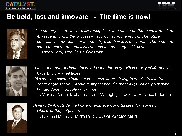 Be bold, fast and innovate - The time is now!