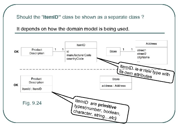 """Should the """"Item. ID"""" class be shown as a separate class ? It depends"""