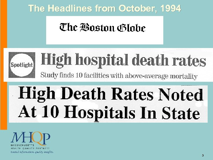 The Headlines from October, 1994 3