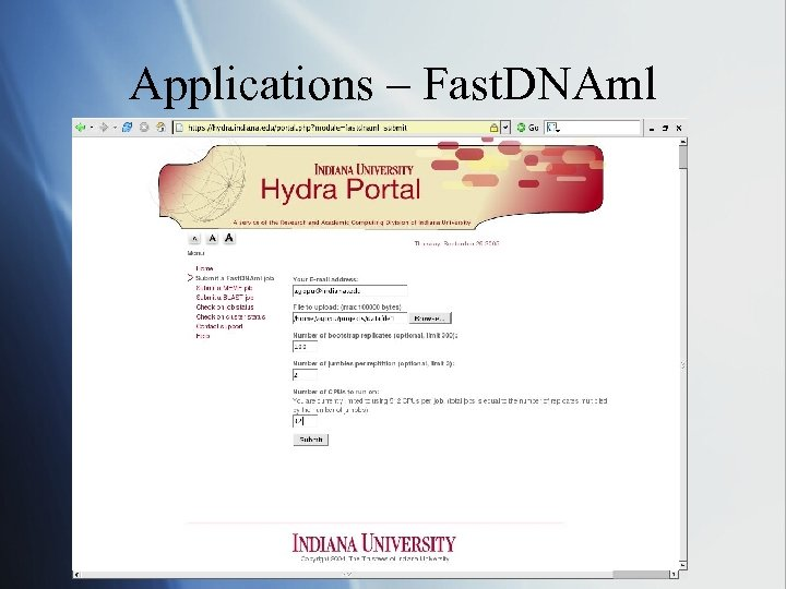 Applications – Fast. DNAml