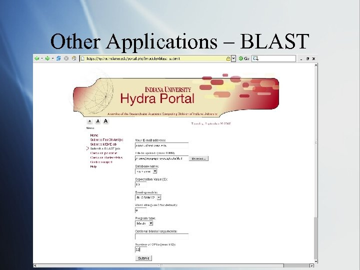 Other Applications – BLAST