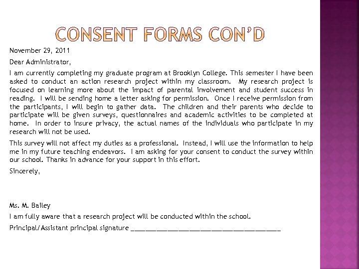 November 29, 2011 Dear Administrator, I am currently completing my graduate program at Brooklyn
