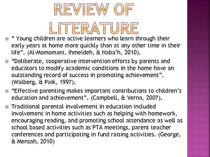 """"""" Young children are active learners who learn through their early years at"""