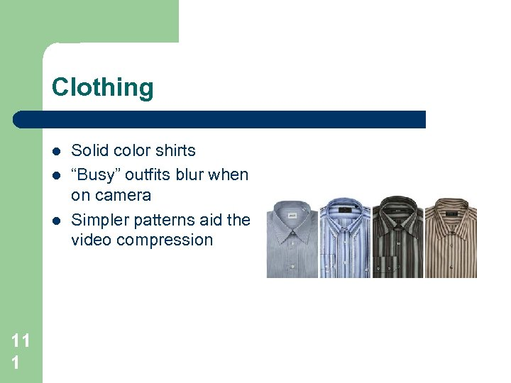 """Clothing l l l 11 1 Solid color shirts """"Busy"""" outfits blur when on"""