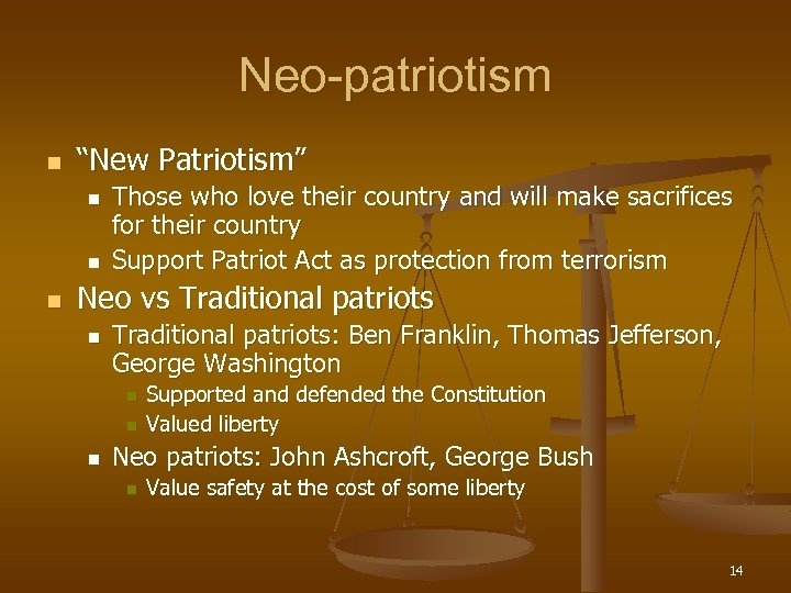 "Neo-patriotism n ""New Patriotism"" n n n Those who love their country and will"
