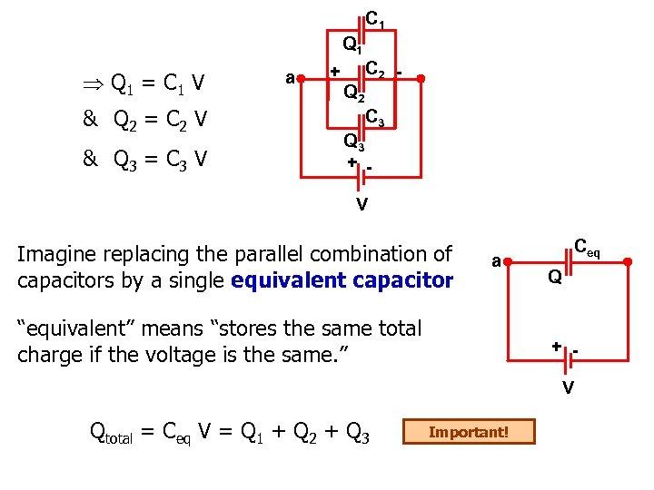 C 1 Q 1 = C 1 V & Q 2 = C 2