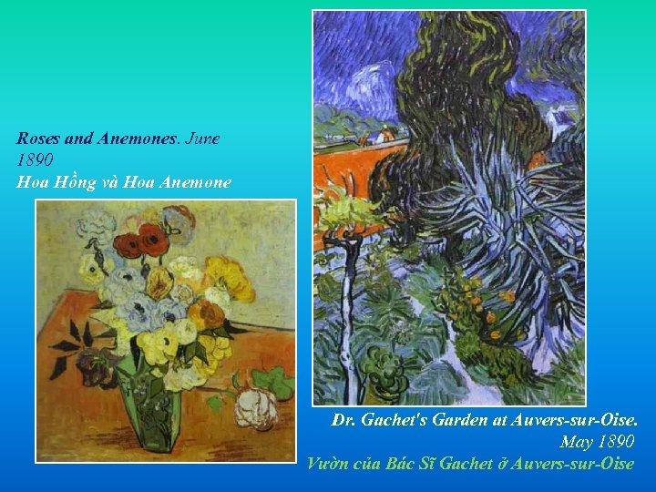 Roses and Anemones. June 1890 Hoa Hồng và Hoa Anemone Dr. Gachet's Garden at