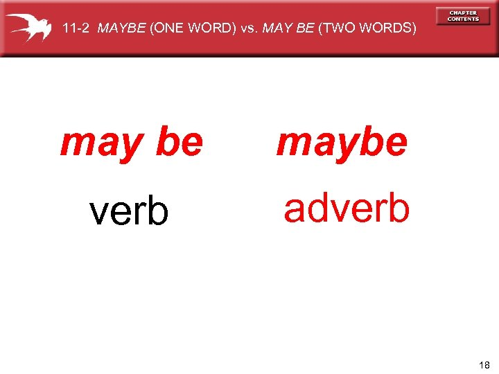 11 -2 MAYBE (ONE WORD) vs. MAY BE (TWO WORDS) may be maybe verb