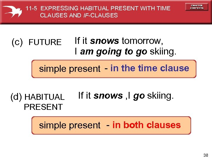 11 -5 EXPRESSING HABITUAL PRESENT WITH TIME CLAUSES AND IF-CLAUSES (c) FUTURE If it
