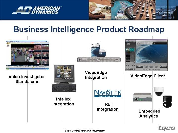 Business Intelligence Product Roadmap Video. Edge Integration Video Investigator Standalone Intellex Integration REI Integration
