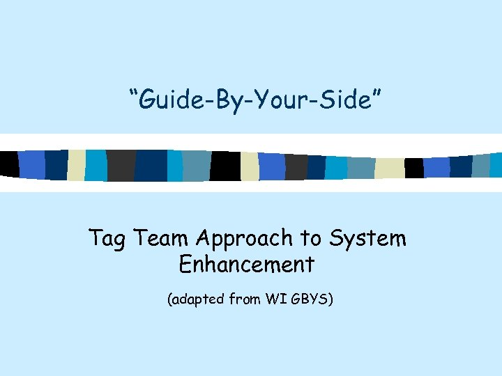 """Guide-By-Your-Side"" Tag Team Approach to System Enhancement (adapted from WI GBYS)"