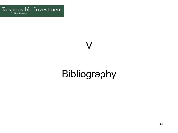 V Bibliography 94