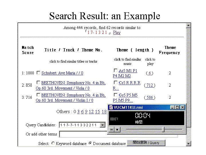 Search Result: an Example
