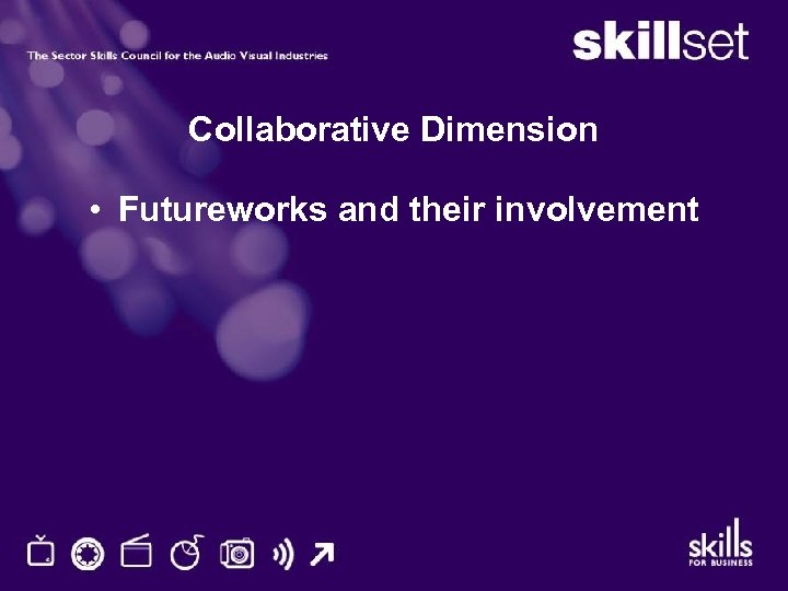 Collaborative Dimension • Futureworks and their involvement