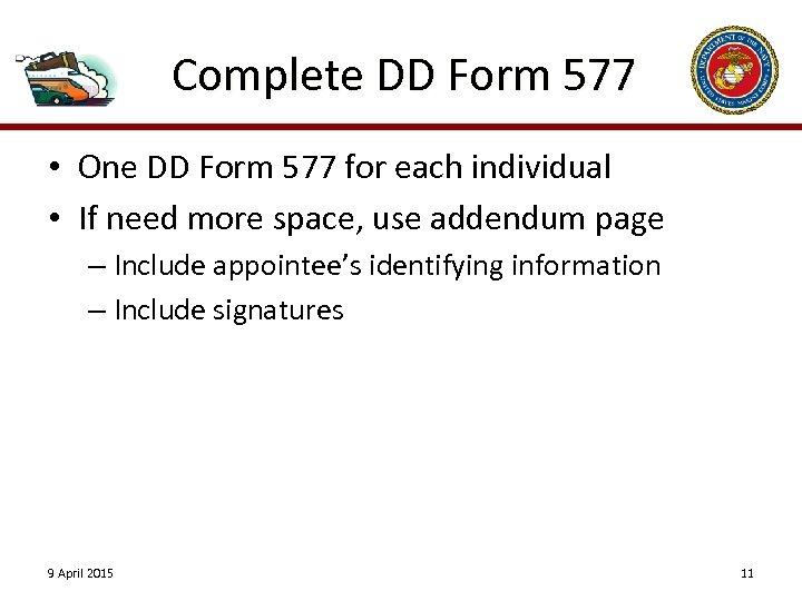 Card 577 signature download form dd