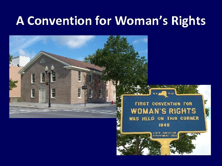 A Convention for Woman's Rights