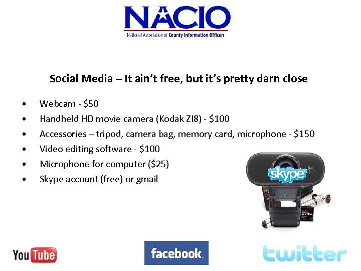 Social Media – It ain't free, but it's pretty darn close • • •