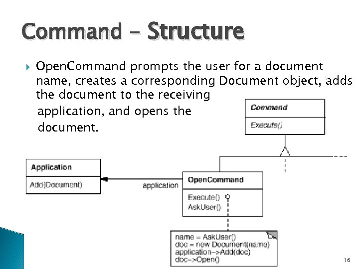 Command - Structure Open. Command prompts the user for a document name, creates a