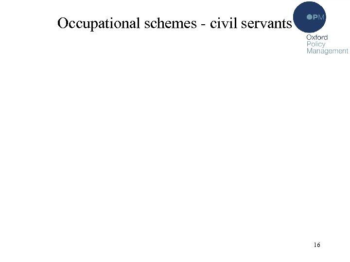 Occupational schemes - civil servants 16