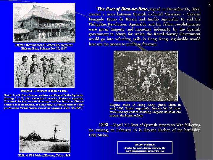 9 The Pact Filipino Revolutionary Soldiers Encampment Biak-na-Bato, Bulacan Dec 27, 1897 of Biak-na-Bato,