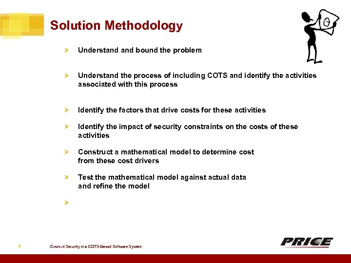 Solution Methodology > Understand bound the problem > Understand the process of including COTS
