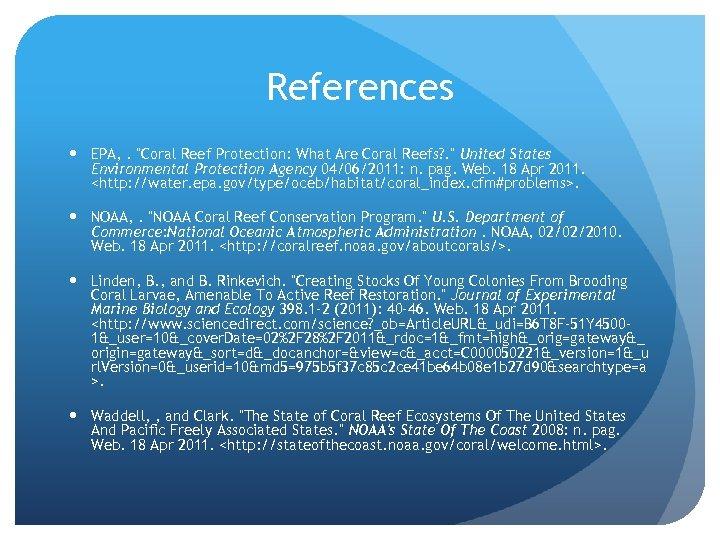 References EPA, .