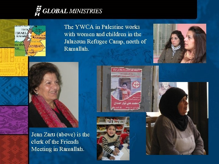 The YWCA in Palestine works with women and children in the Jalazoun Refugee Camp,