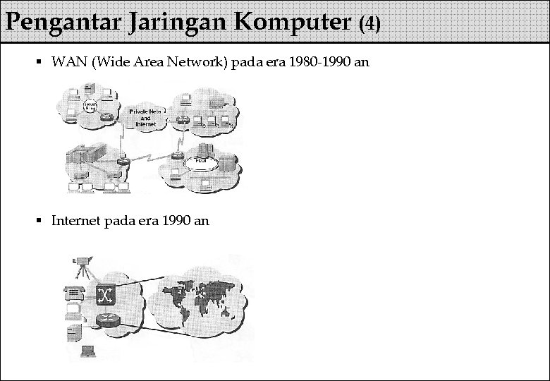 Pengantar Jaringan Komputer (4) § WAN (Wide Area Network) pada era 1980 -1990 an