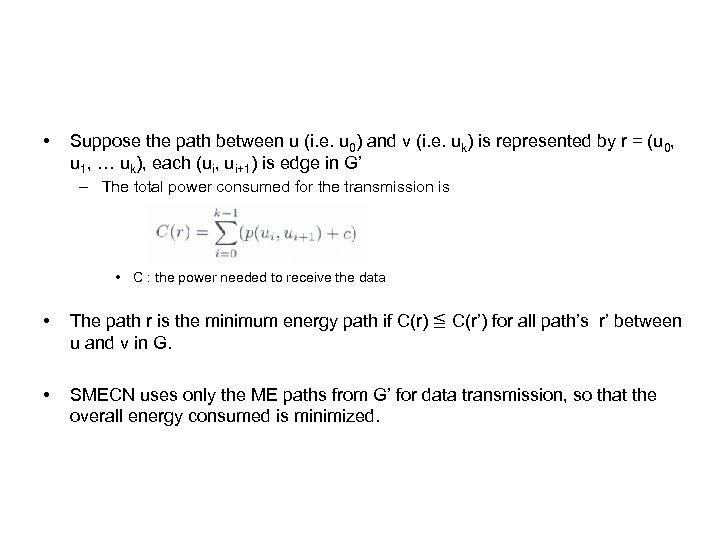 • Suppose the path between u (i. e. u 0) and v (i.