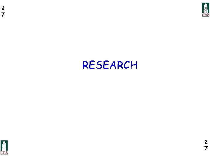 2 7 RESEARCH 2 7