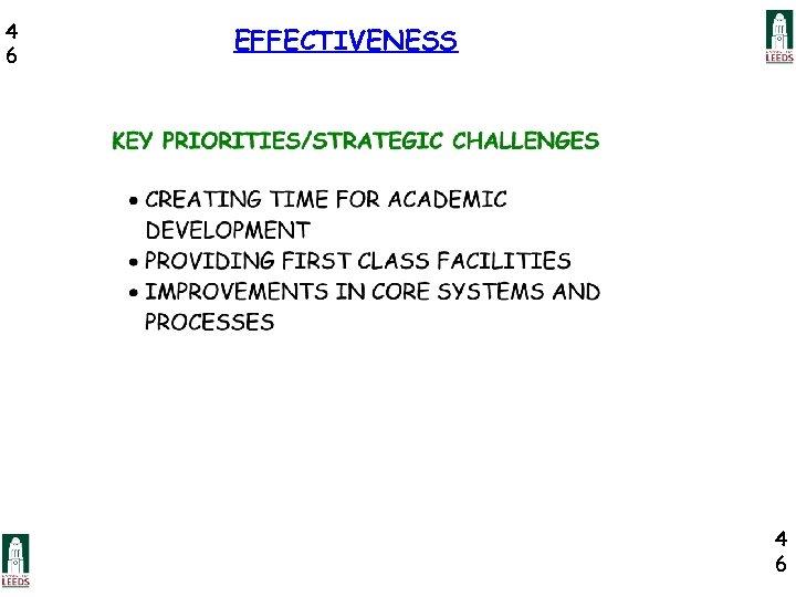 4 6 EFFECTIVENESS 4 6