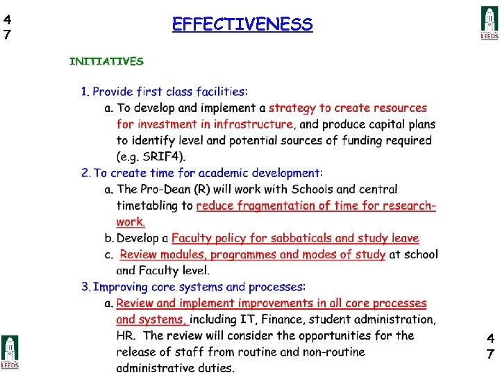 4 7 EFFECTIVENESS 4 7