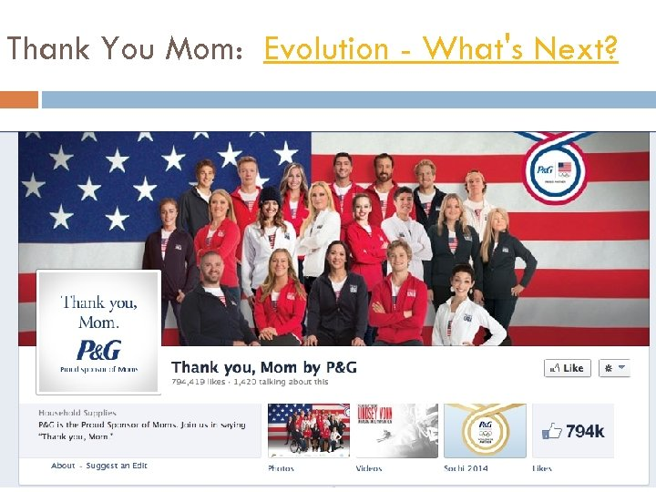 Thank You Mom: Evolution - What's Next?