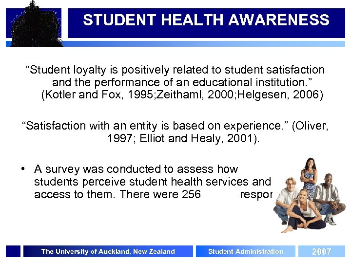 """STUDENT HEALTH AWARENESS """"Student loyalty is positively related to student satisfaction and the performance"""