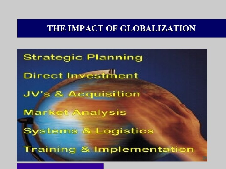 THE IMPACT OF GLOBALIZATION 29