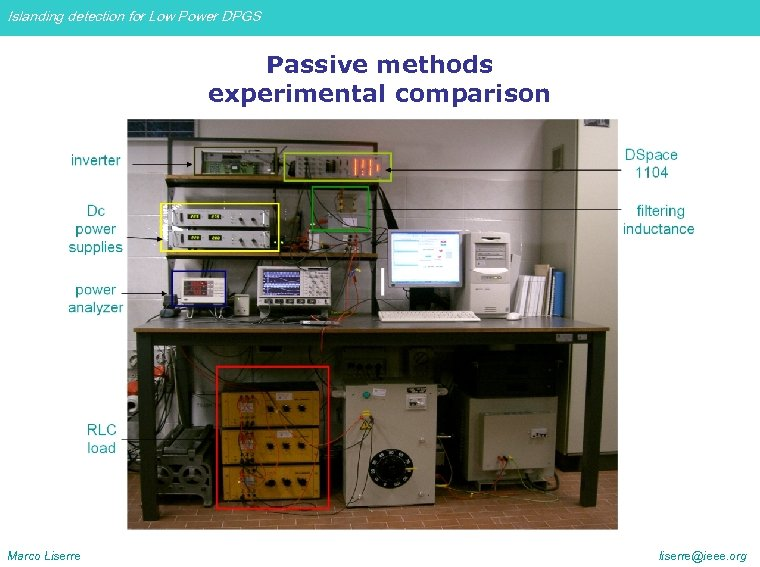Islanding detection for Low Power DPGS Passive methods experimental comparison Marco Liserre liserre@ieee. org