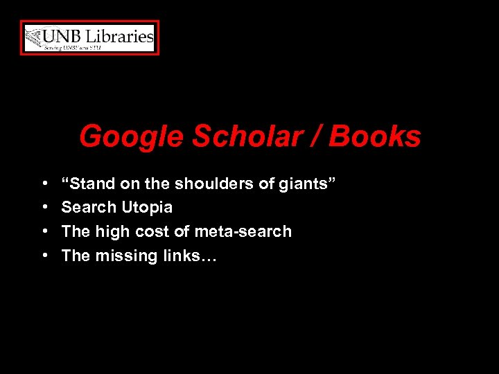 "Google Scholar / Books • • ""Stand on the shoulders of giants"" Search Utopia"