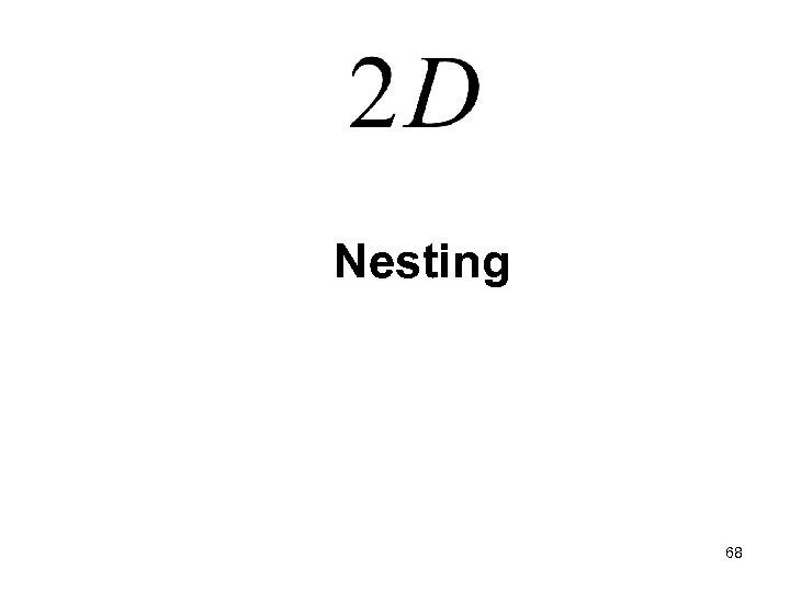 Nesting 68