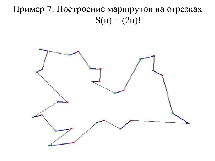 Пример 7. Построение маршрутов на отрезках S(n) = (2 n)!