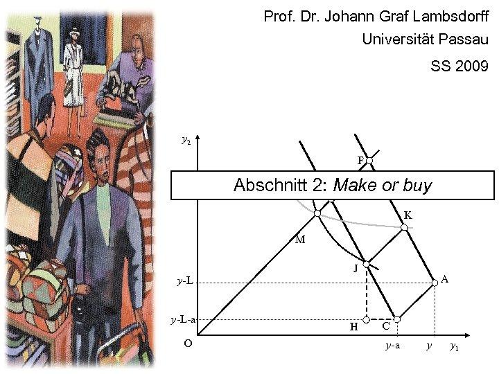Prof. Dr. Johann Graf Lambsdorff Universität Passau SS 2009 y 2 F Abschnitt 2: