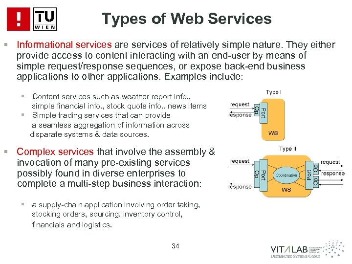 Types of Web Services § Informational services are services of relatively simple nature. They