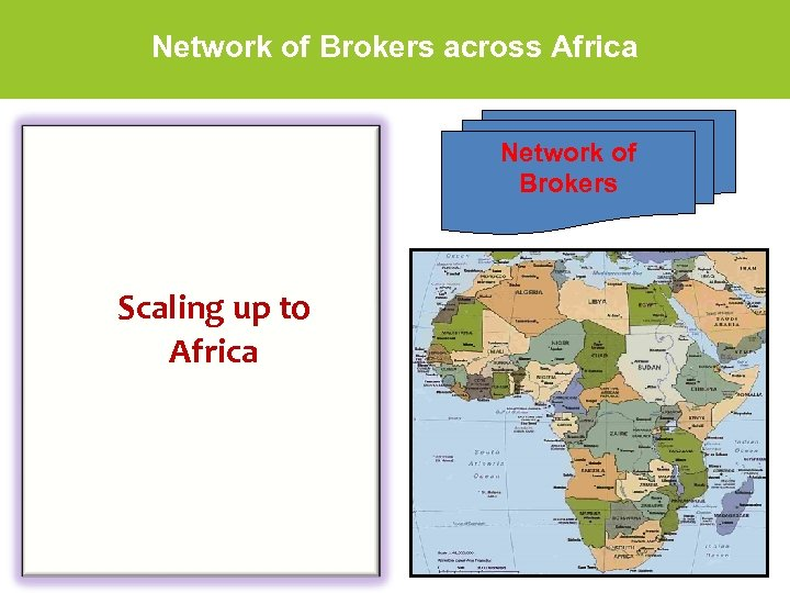 Network of Brokers across Africa Network of Brokers Scaling up to Africa