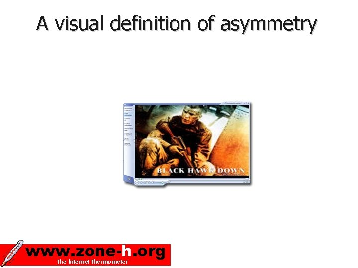 A visual definition of asymmetry www. zone-h. org the Internet thermometer
