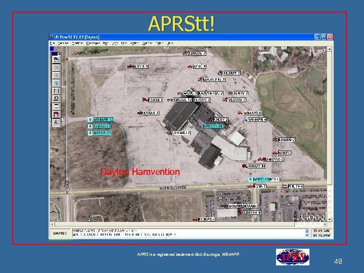 APRStt! Dayton Hamvention APRS is a registered trademark Bob Bruninga, WB 4 APR 48