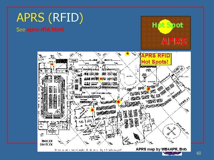 APRS (RFID) See aprs-rfid. html Hot Spot APRS is a registered trademark Bob Bruninga,