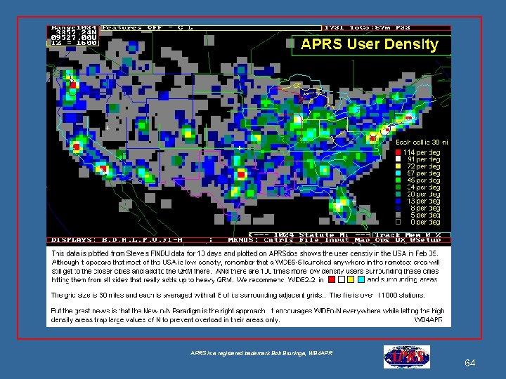 APRS is a registered trademark Bob Bruninga, WB 4 APR 64