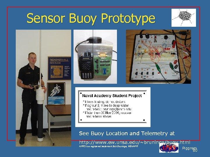 Sensor Buoy Prototype See Buoy Location and Telemetry at http: //www. ew. unsa. edu/~bruninga/buoy.