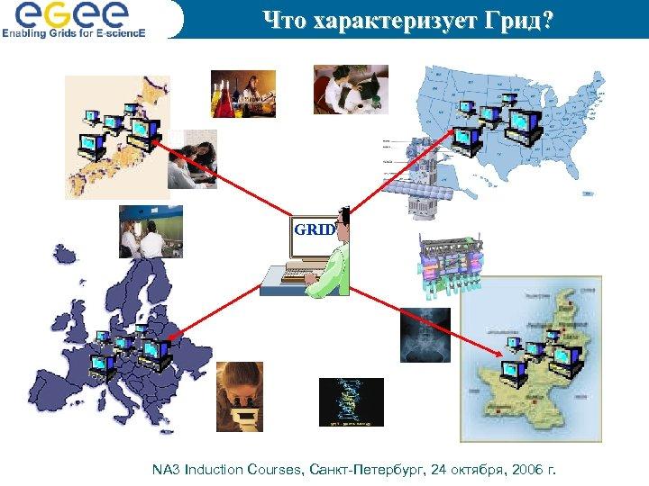 Что характеризует Грид? GRID NA 3 Induction Courses, Санкт-Петербург, 24 октября, 2006 г.