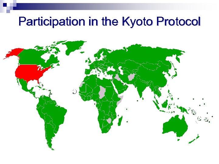 Participation in the Kyoto Protocol