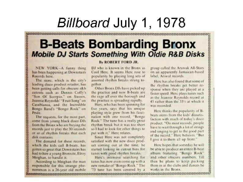 Billboard July 1, 1978